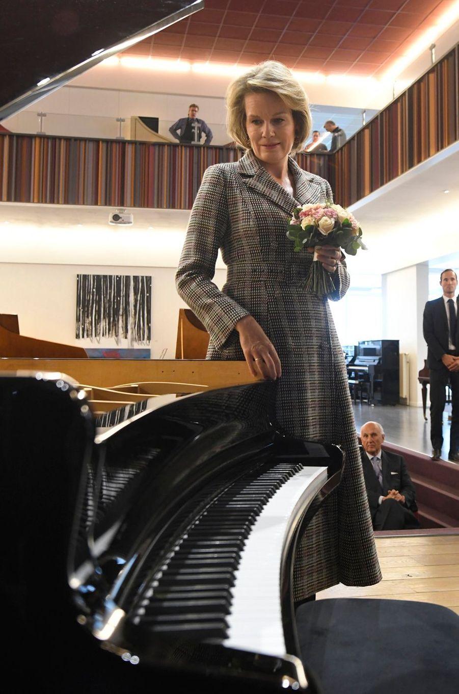 La reine Mathilde de Belgique à Ruiselede, le 6 novembre 2019