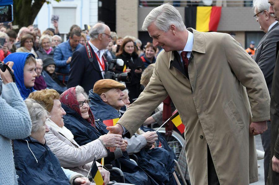 Le roi des Belges Philippe à Pittem, le 6 novembre 2019