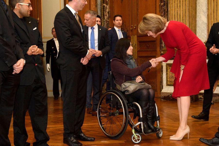 La reine Mathilde de Belgique et le roi des Belges Philippe à Bruxelles, le 7 novembre 2019