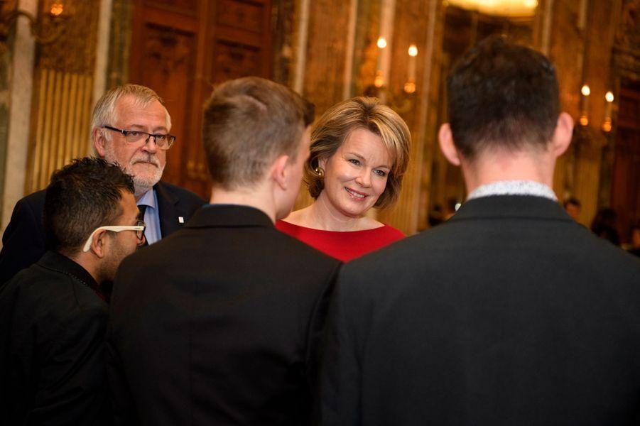 La reine Mathilde de Belgique à Bruxelles, le 7 novembre 2019