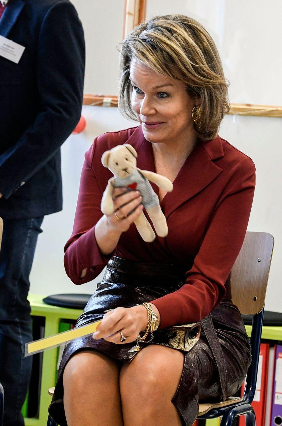 La reine des Belges Mathilde à Melle, le 19 février 2020