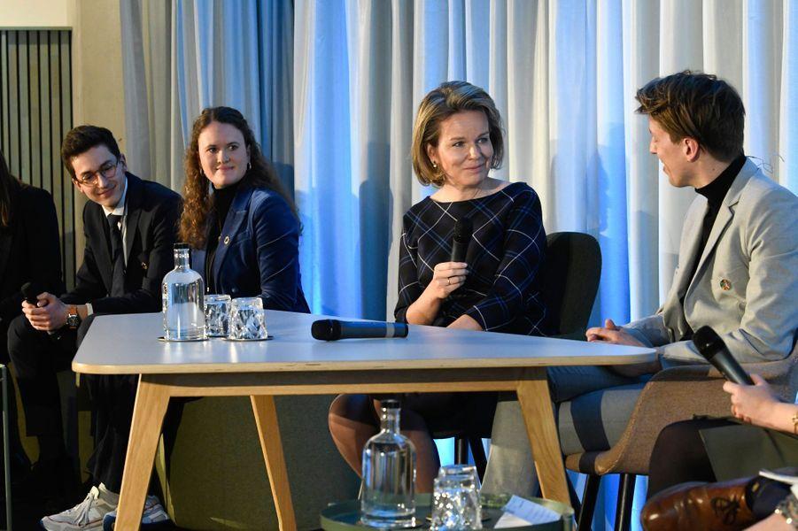 La reine des Belges Mathilde à Anvers, le 20 février 2020