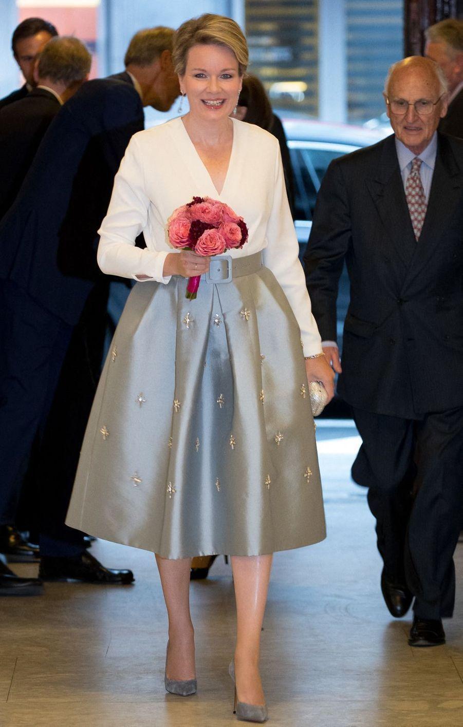 La reine des Belges Mathilde à Bruxelles, le 4 juin 2019