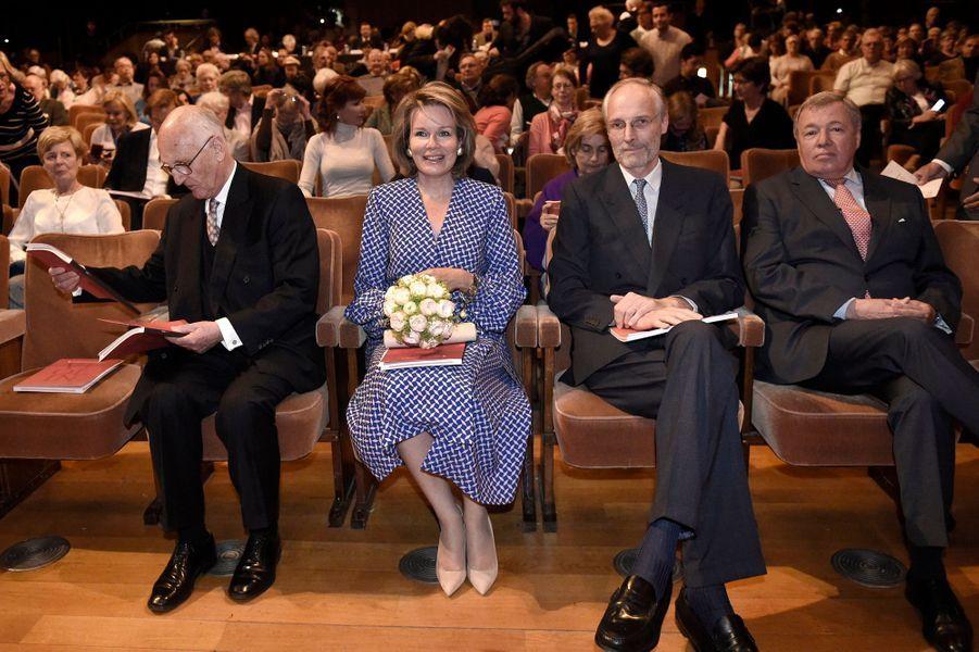 La reine des Belges Mathilde à Bruxelles, le 29 avril 2019