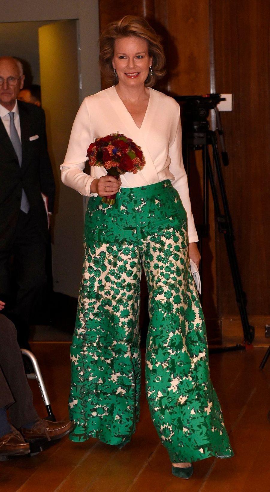 La reine des Belges Mathilde à Bruxelles, le 11 mai 2019