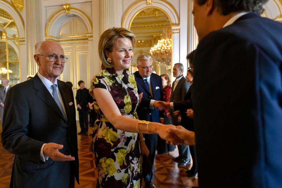 La reine des Belges Mathilde au Palais royal à Bruxelles, le 21 mai 2019