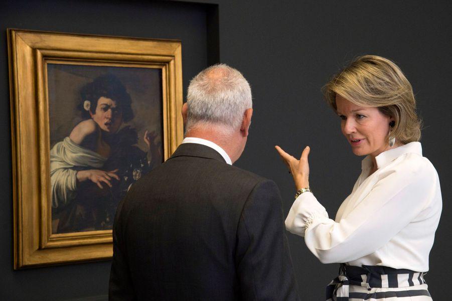 La reine des Belges Mathilde à Anvers dans le cadre du festival «Antwerp Baroque 2018. Rubens inspires», le 3 juillet 2018