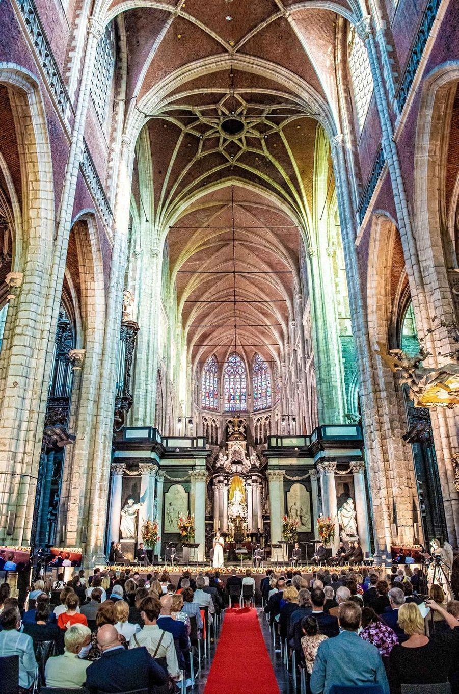 Le concert où se trouvaient la reine Mathilde et le roi des Belges Philippe à Gand, le 22 septembre 2020