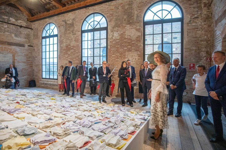 La reine des Belges Mathilde à Venise, le 6 septembre 2019