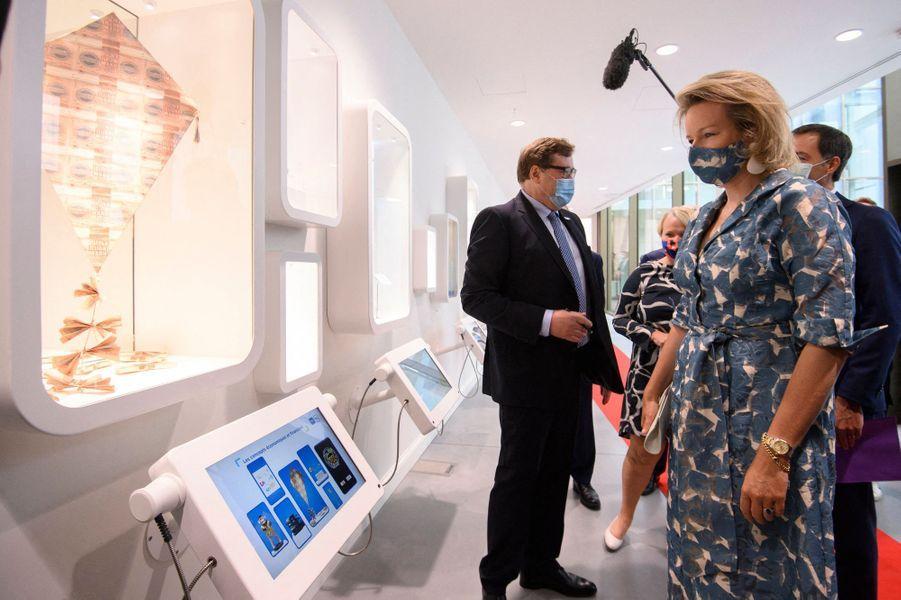 La reine des Belges Mathilde au Wikifin Lab à Bruxelles, le 8 septembre 2020