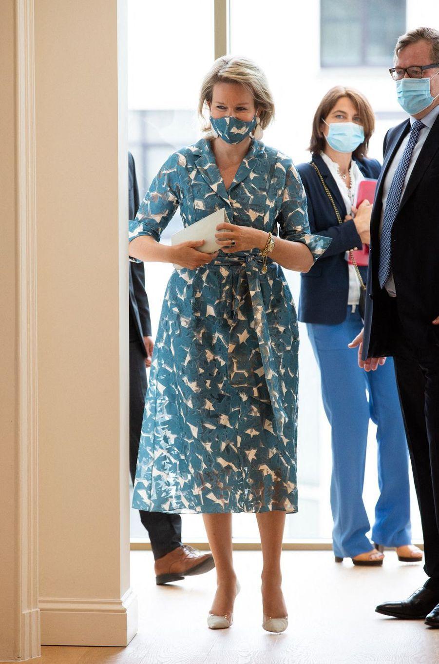La reine des Belges Mathilde à Bruxelles, le 8 septembre 2020