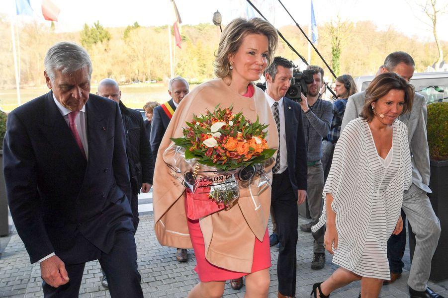 La reine Mathilde de Belgique à Genval, le 29 mars 2018