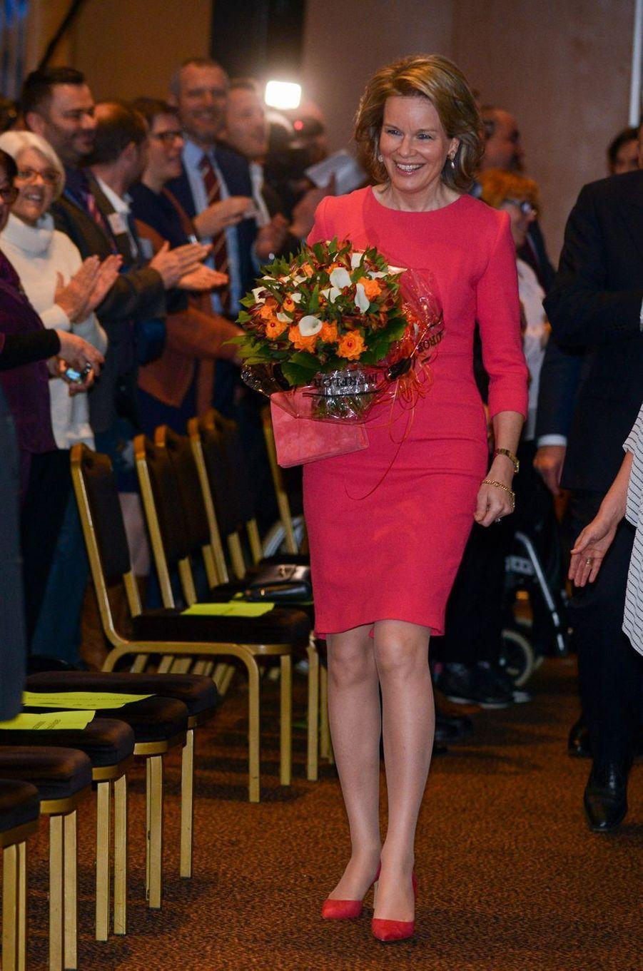 La reine des Belges Mathilde à Genval, le 29 mars 2018