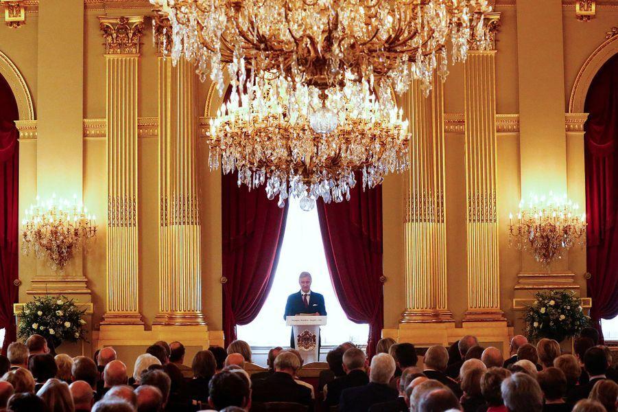 Le roi Philippe de Belgique au Palais royal à Bruxelles, le 28 janvier 2016