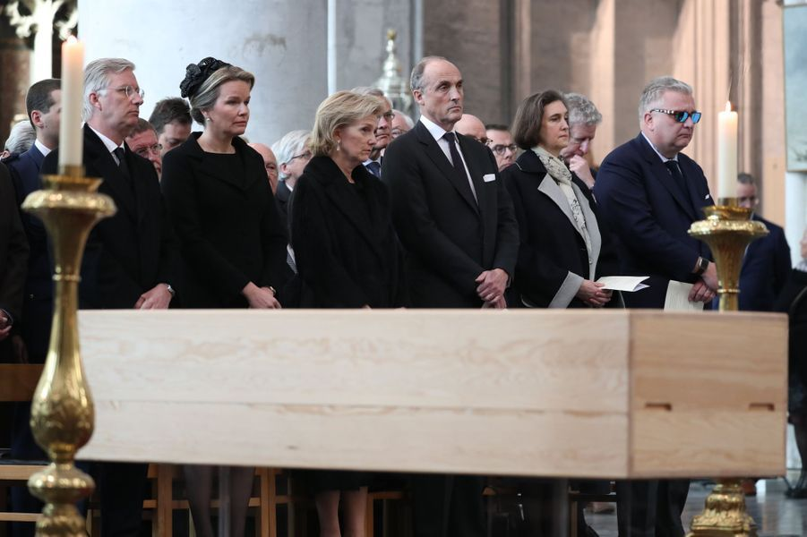 La famille royale de Belgique aux obsèques du cardinal Danneels à Malines, le 22 mars 2019