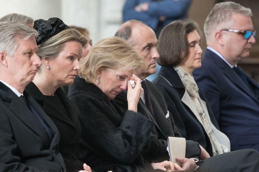 Le roi des Belges Philippe, la reine Mathilde, la princesse Astrid et les princes Lorenz et Laurent de Belgique à Malines, le 22 mars 2019