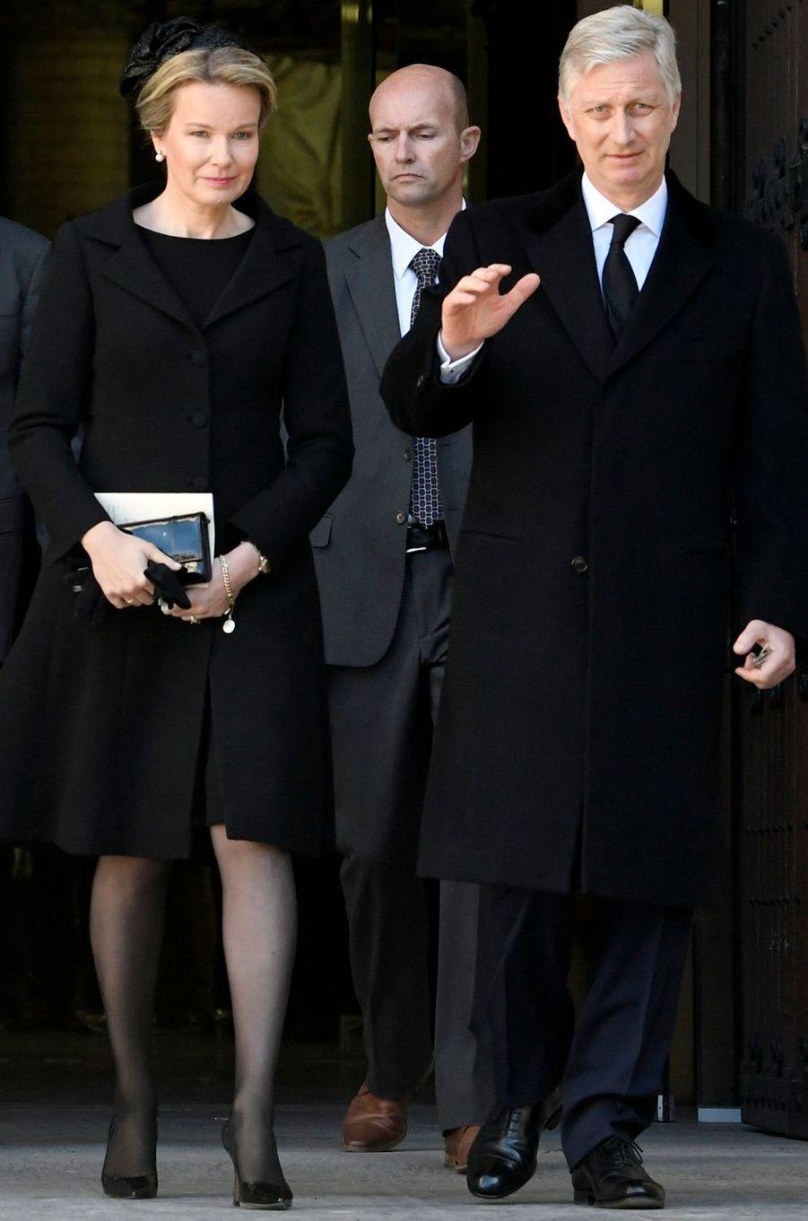 La reine Mathilde et le roi des Belges Philippe à Malines, le 22 mars 2019