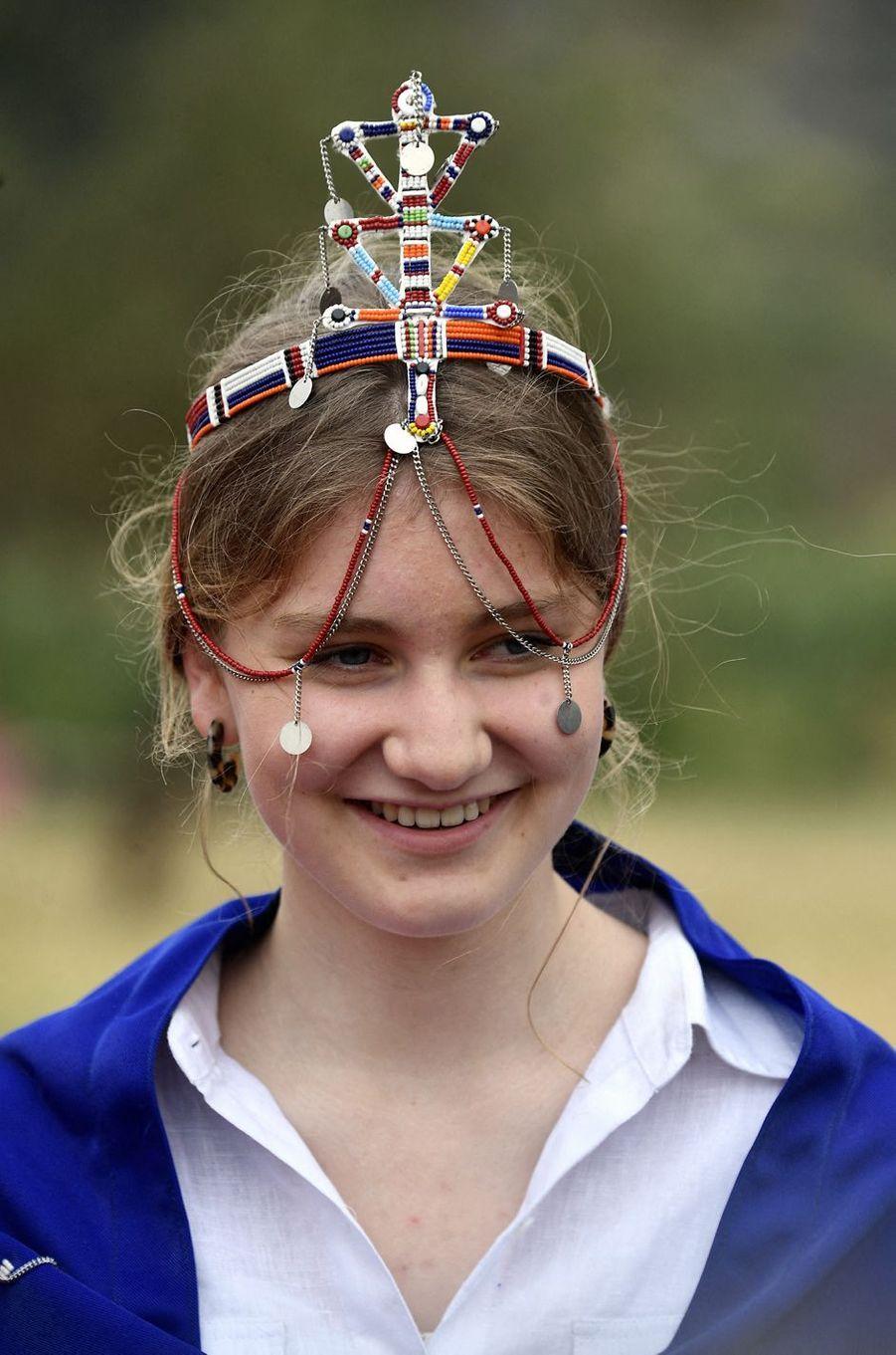 La princesse Elisabeth de Belgique chez les Massaï au Kenya, le 27 juin 2019