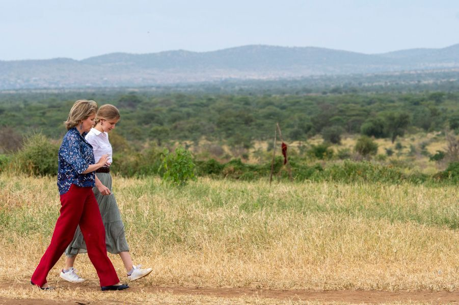 La reine des Belges Mathilde et la princesse Elisabeth au Kenya, le 27 juin 2019