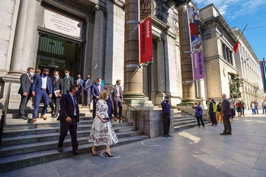 La reine Mathilde et le roi des Belges Philippe à Bruxelles, le 19 mai 2020