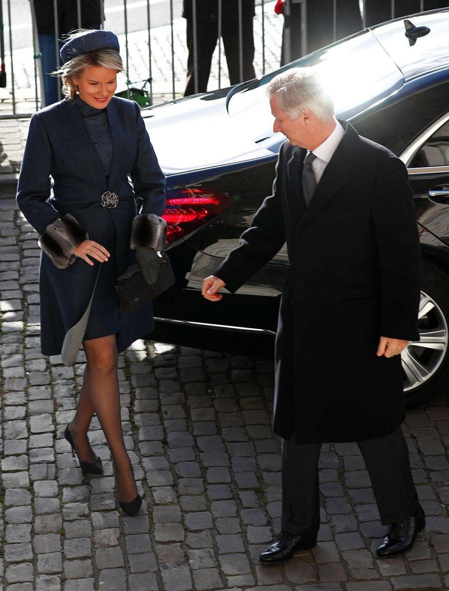 La reine Mathilde et le roi des Belges Philippe à Bruxelles, le 19 février 2019