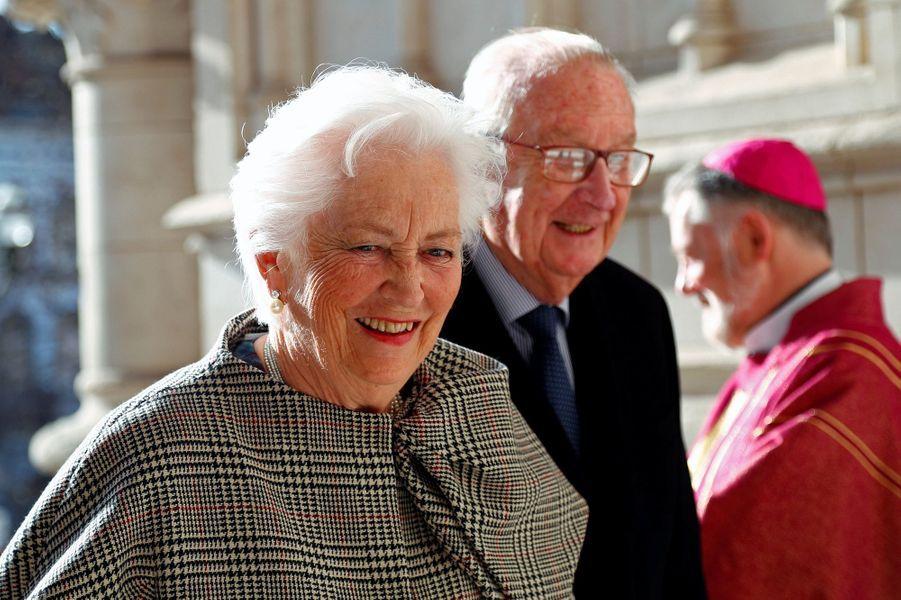 L'ancienne reine Paola et l'ancien roi des Belges Albert II à Bruxelles, le 19 février 2019