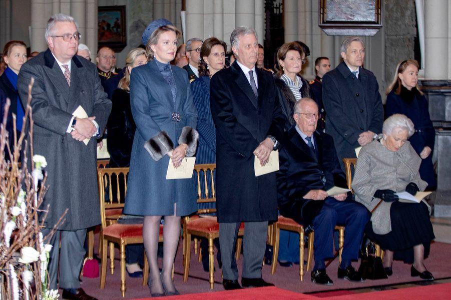 La famille royale de Belgique à Bruxelles, le 19 février 2019