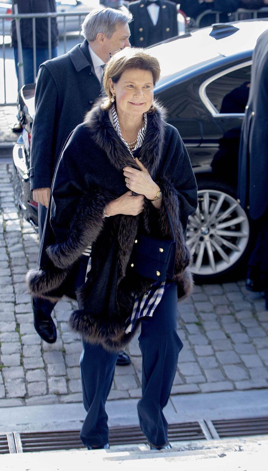 La princesse Margaretha de Liechtenstein à Bruxelles, le 19 février 2019
