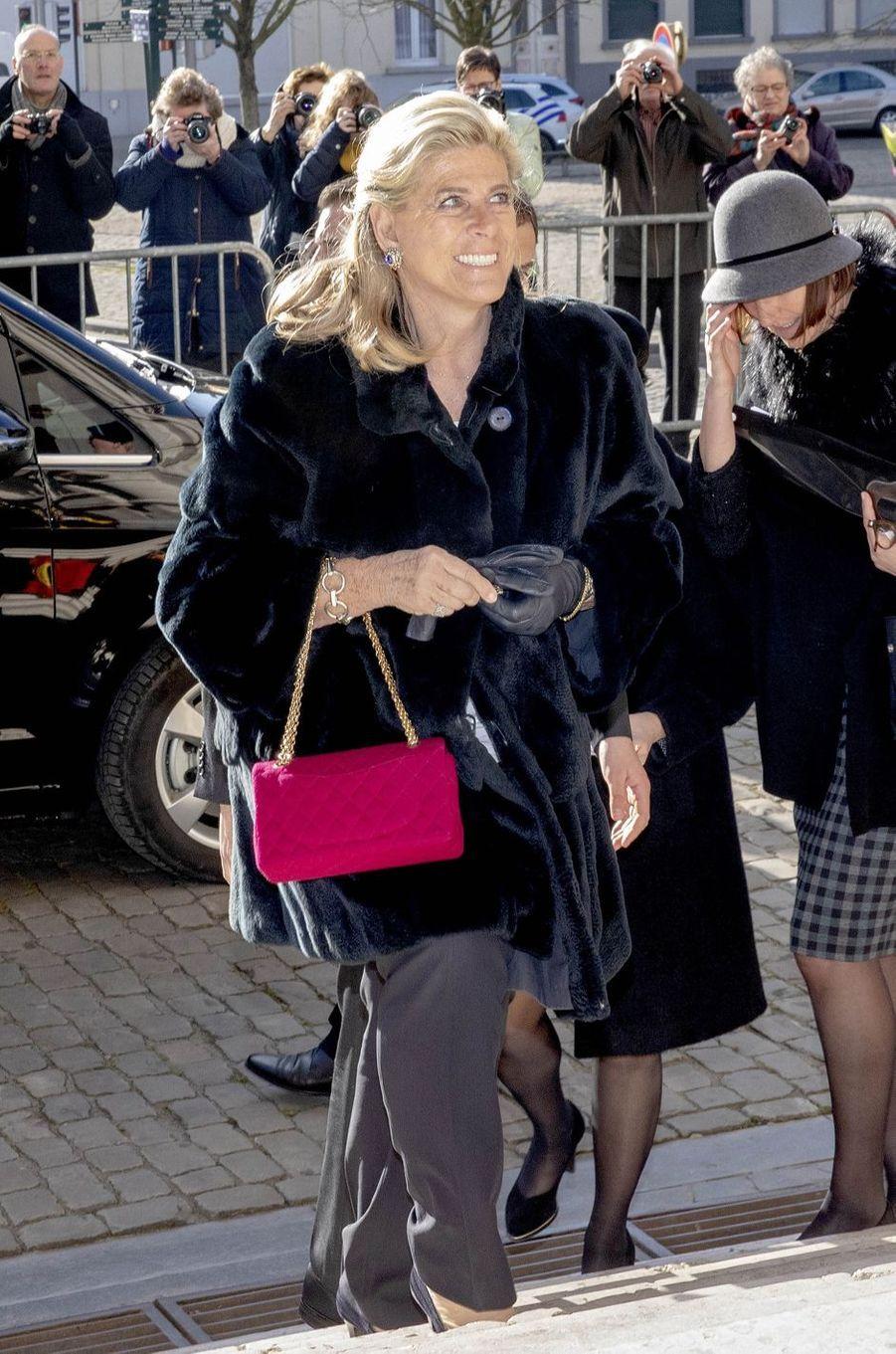 La princesse Lea de Belgique à Bruxelles, le 19 février 2019