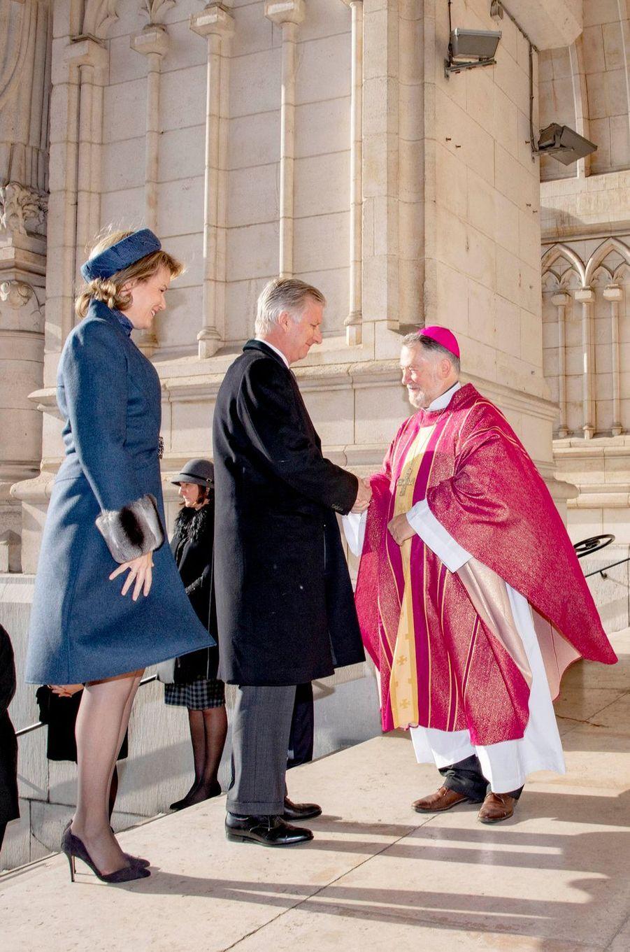La reine Mathilde de Belgique et le roi des Belges Philippe à Bruxelles, le 19 février 2019