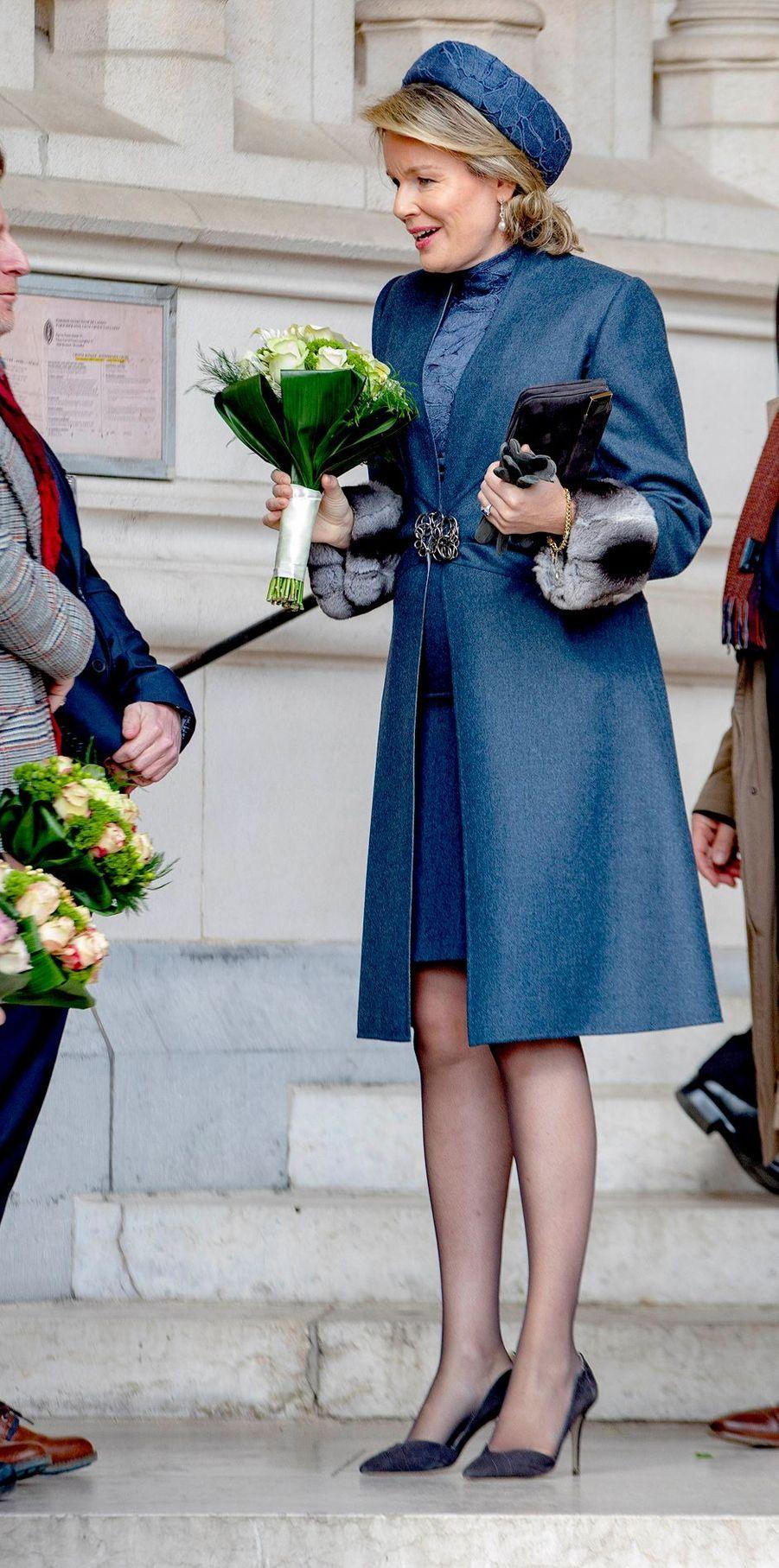 La reine des Belges Mathilde à Bruxelles, le 19 février 2019