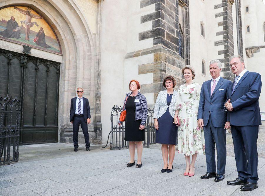 La reine Mathilde de Belgique et le roi des Belges Philippe à Lutherstadt Wittenberg, le 10 juillet 2019
