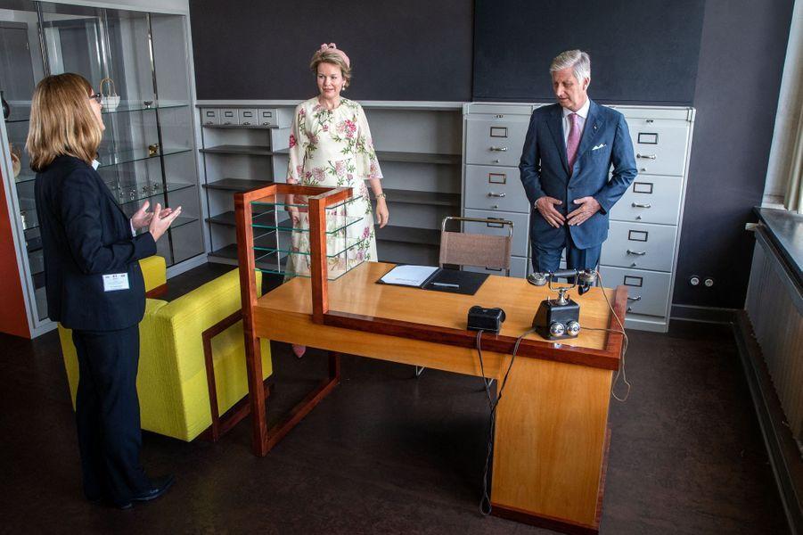 La reine Mathilde de Belgique et le roi des Belges Philippe à Dessau, le 10 juillet 2019