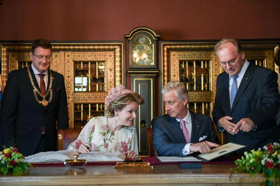 La reine Mathilde de Belgique et le roi des Belges Philippe à Wittenberg, le 10 juillet 2019