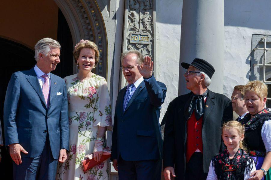La reine Mathilde et le roi des Belges Philippe à Lutherstadt Wittenberg, le 10 juillet 2019