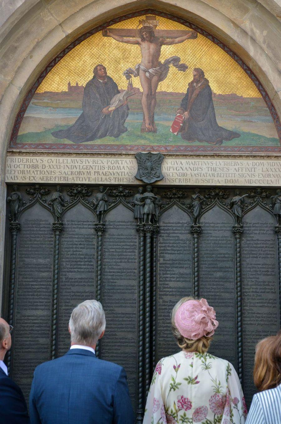 La reine Mathilde et le roi des Belges Philippe à Wittenberg, le 10 juillet 2019