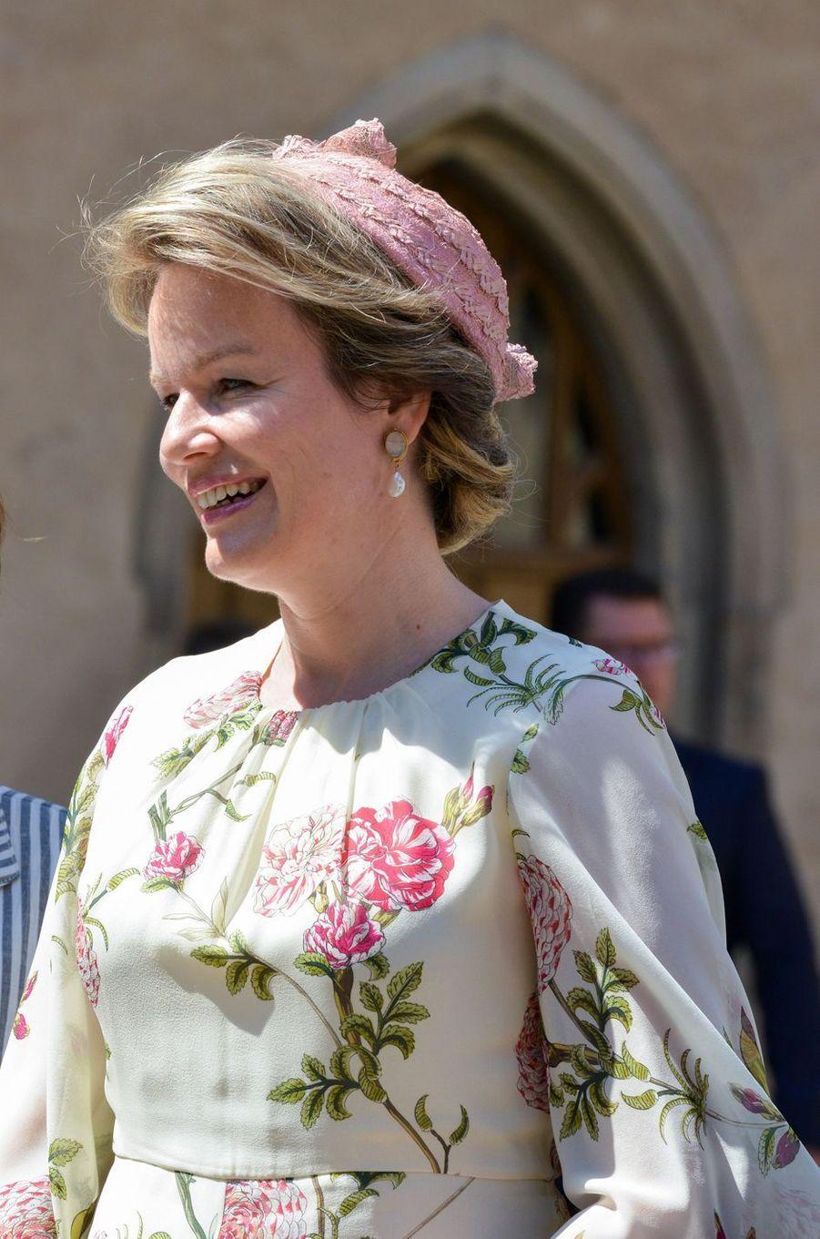 La reine Mathilde de Belgique à Wittenberg, le 10 juillet 2019