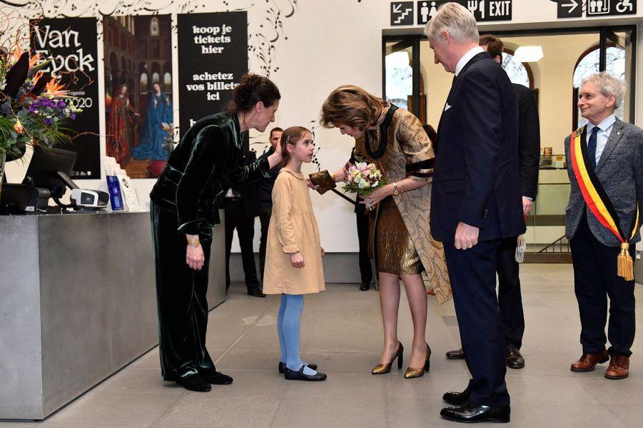 La reine Mathilde et le roi des Belges Philippe à Gand, le 30 janvier 2020