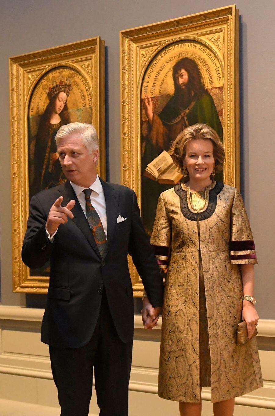 Le roi des Belges Philippe et la reine Mathilde à Gand, le 30 janvier 2020
