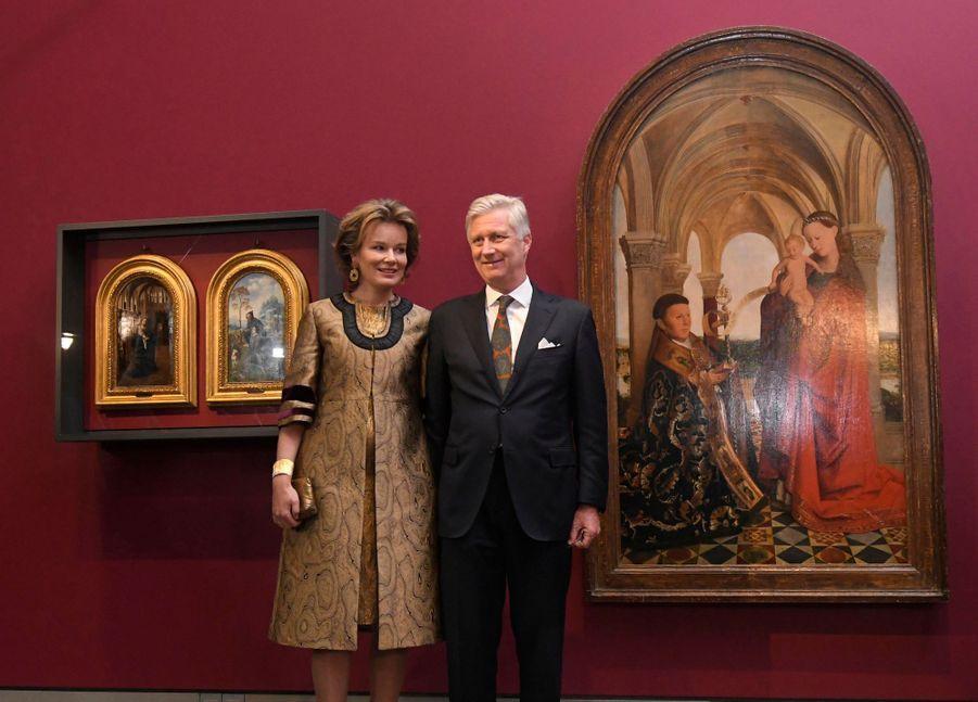 La reine Mathilde et le roi des Belges Philippe, le 30 janvier 2020 à Gand