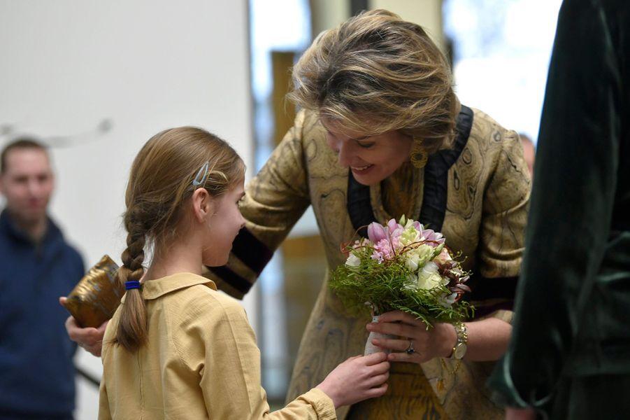 La reine des Belges Mathilde à Gand, le 30 janvier 2020