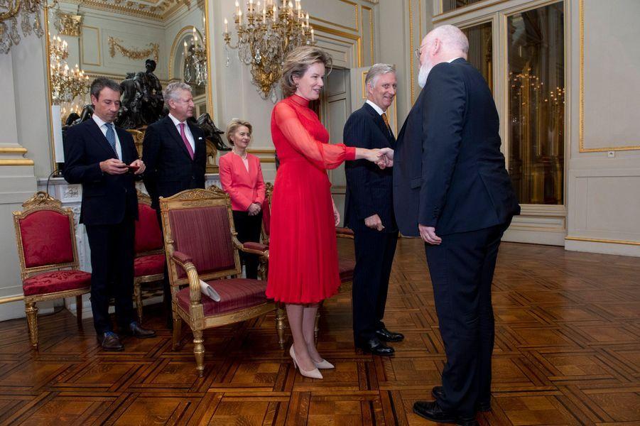 La reine Mathilde et le roi des Belges Philippe à Bruxelles, le 9 janvier 2020