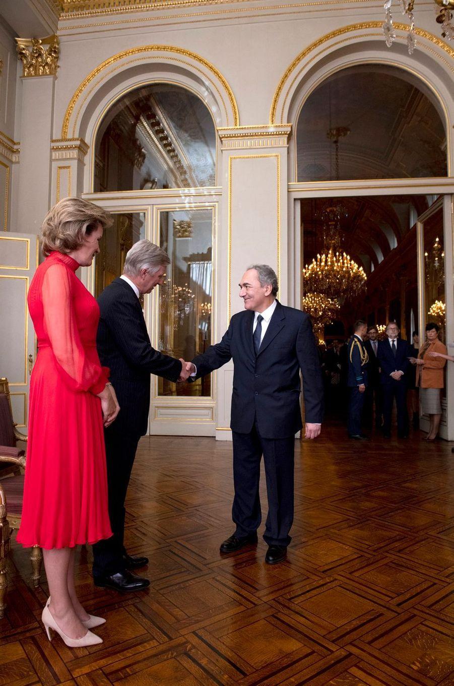 La reine Mathilde et le roi des Belges Philippe, le 9 janvier 2020 à Bruxelles