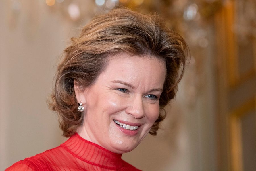 La reine des Belges Mathilde, le 9 janvier 2020 à Bruxelles
