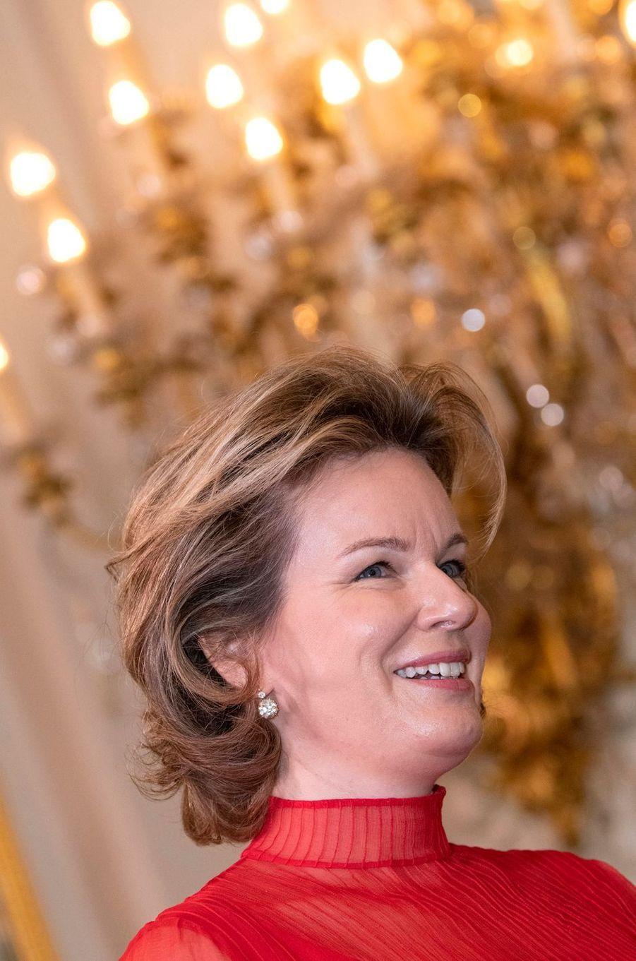 La reine des Belges Mathilde à Bruxelles, le 9 janvier 2020
