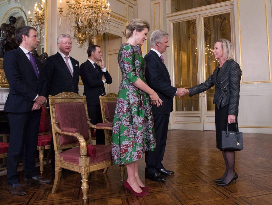 La reine Mathilde et le roi des Belges Philippe à Bruxelles, le 14 janvier 2020