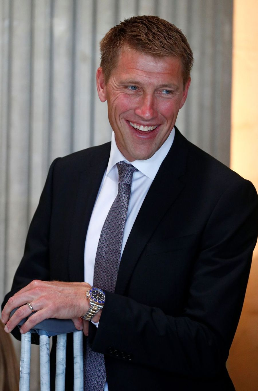 Axel, le fils d'Eddy Merckx, à Bruxelles le 5 juillet 2019