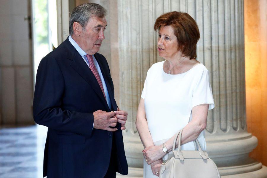 Eddy Merckx et sa femme à Bruxelles, le 5 juillet 2019