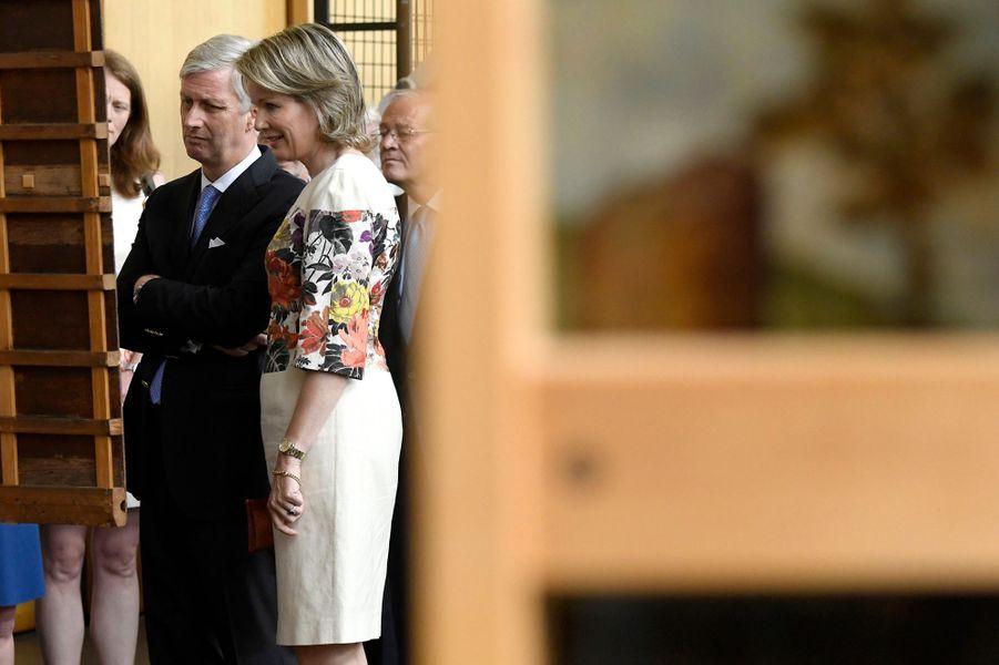 La reine Mathilde et le roi des Belges Philippe à Bruxelles, le 11 juin 2018