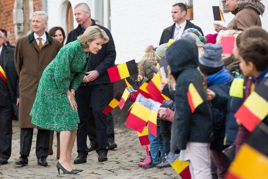 La reine Mathilde et le roi des Belges Philippe à Jodoigne, le 11 décembre 2018